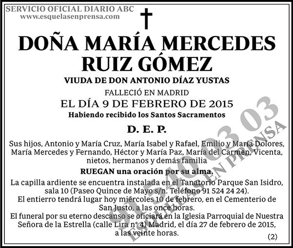 María Mercedes Ruiz Gómez